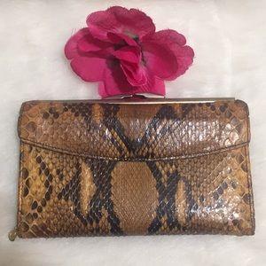 Bosca Python Snakeskin Leather Wallet